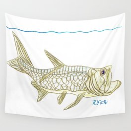 Key West Tarpon II Wall Tapestry