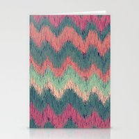 ikat Stationery Cards featuring IKAT CHEVRON by Nika