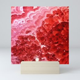 Macro Red Agate Mini Art Print