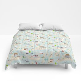Summer On The Islands Comforters