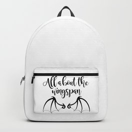 All about the wingspan white design Backpack