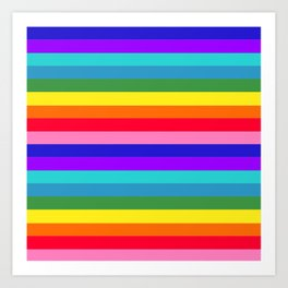 Stripes of Rainbow Colors Art Print