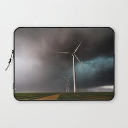 Wind Farm - Renewable Energy on the Texas Plains Laptop Sleeve