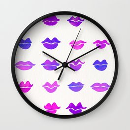 Kiss Collection – Indigo Palette Wall Clock
