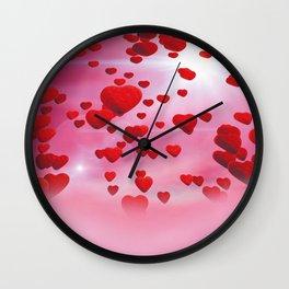 Sky is full of love Wall Clock