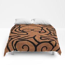 Octo-Doodle-Pus Brown Comforters