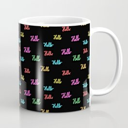 hello pattern Coffee Mug