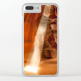 Guiding Light, Upper Antelope Canyon Clear iPhone Case