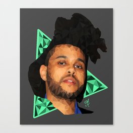 The Weeknd - Poly Art Canvas Print