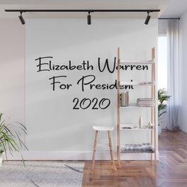 Elizabeth Warren for President Wall Mural