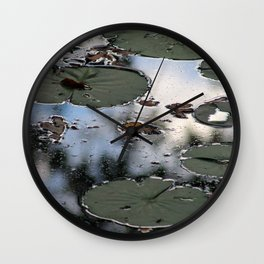 Lily Pads at the Arboretum Wall Clock