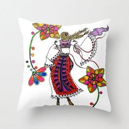Kolo Dancer Throw Pillow