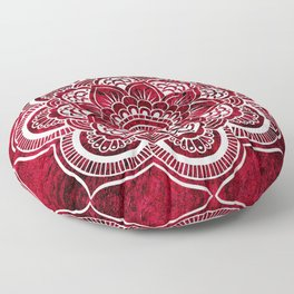 Mandala Red Colorburst Floor Pillow