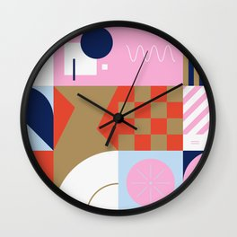Abstract Geometric Composition 086 Wall Clock
