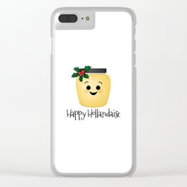 Happy Hollandaise Clear iPhone Case