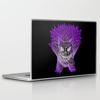 gengar Laptop & iPad Skins featuring scratchy gengar  by cavia