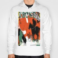 racing Hoodies featuring Horse Racing by Robin Curtiss