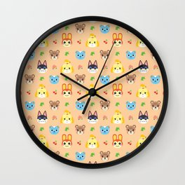 Animal Crossing - Peach Wall Clock