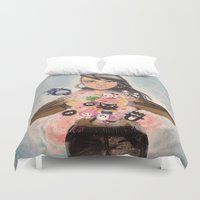 wallet Duvet Covers featuring Inner Child Superstar by alfienumeric