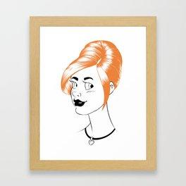 Sheena is... orange Framed Art Print