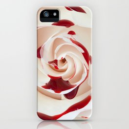 Bleeding Rose Macro iPhone Case