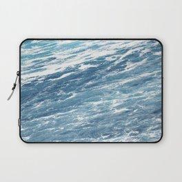 Ocean Water Waves Foam Texture Laptop Sleeve