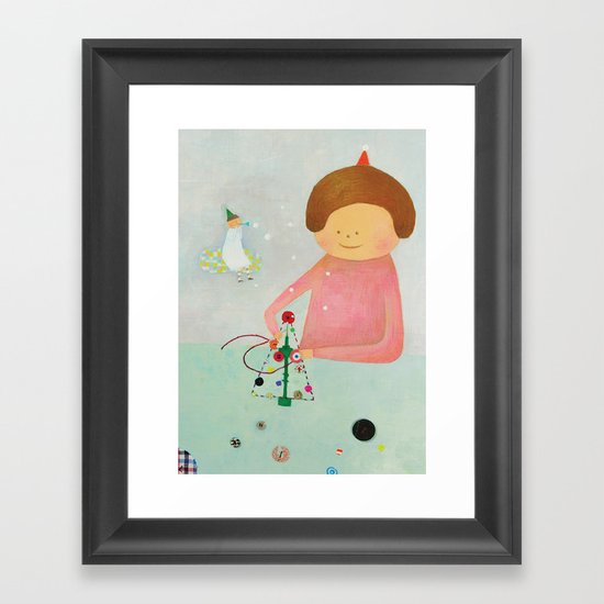 snow snow Framed Art Print