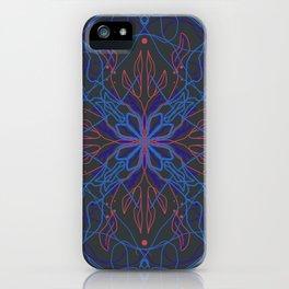 Night bloom mandala iPhone Case