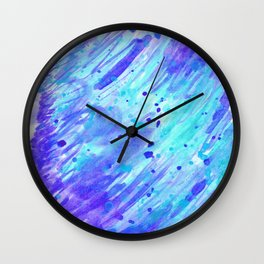 Abstract watercolor light blue colour Wall Clock