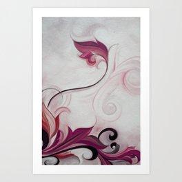 Floral Scroll Series-No.775 Art Print