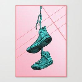 Converse Online Bubblegum Canvas Print