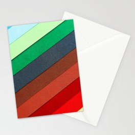 Abstract colorful lines Stationery Cards