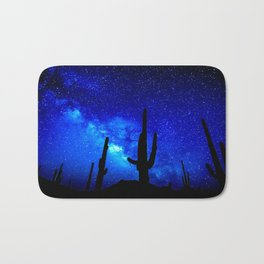 The Milky Way Blue Bath Mat