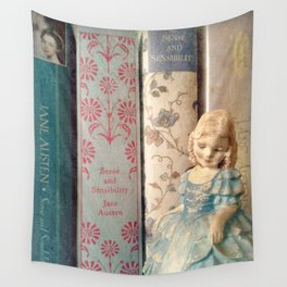 Library of Sense and Sensibility Wall Tapestry