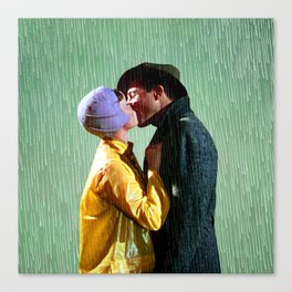 Singin' in the Rain - Green Canvas Print