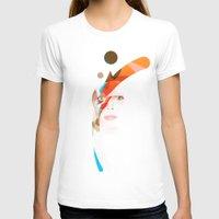 aladdin T-shirts featuring Bowie - Aladdin Sane by lazylaves