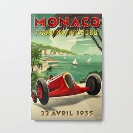 Monaco Grand Prix Poster Metal Print