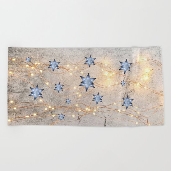 Star Wall | Christmas Spirit Beach Towel