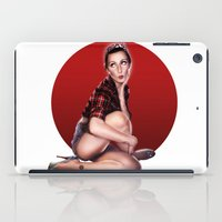 calendar iPad Cases featuring CALENDAR GIRL by Kiko Alcazar