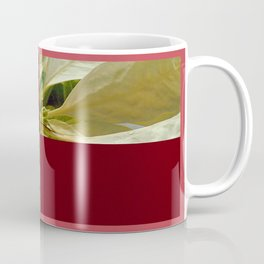 Pale Yellow Poinsettia 1 Happy Holidays Q10F1 Coffee Mug