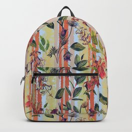 Wild Flowers on Stripes Backpack