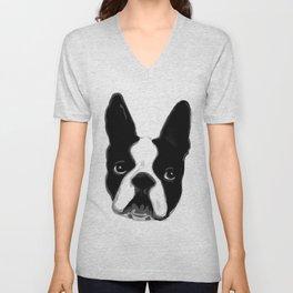 Boston Terrier Unisex V-Neck