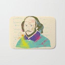 Portrait of William Shakespeare-Hand drawn Bath Mat