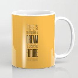 Lab No. 4 - Dream To Create Future Victor Hugo Movie Typography Quotes Poster Coffee Mug