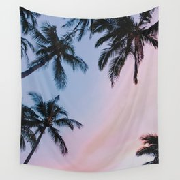 cotton candy skies Wall Tapestry