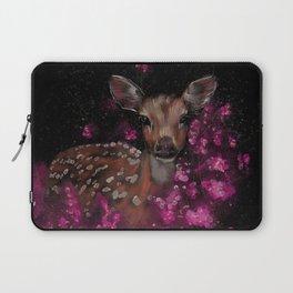 Little roe deer in pink blossoms  Laptop Sleeve