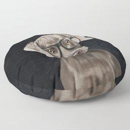 Mr Weimaraner Floor Pillow