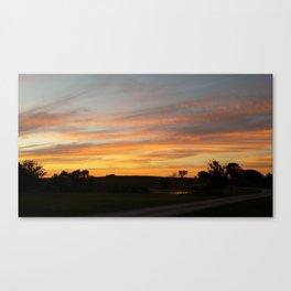 Oklahoma Country Sunset #2 Canvas Print