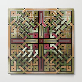 Earthtone Celtic Knot Metal Print
