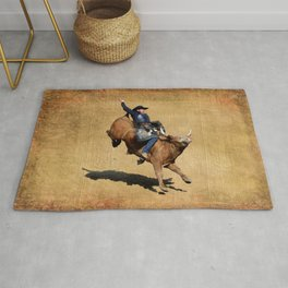 Bull Dust! - Rodeo Bull Riding Cowboy Rug